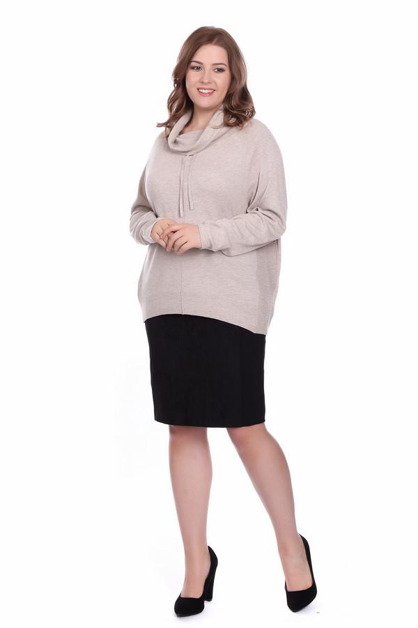 Пуловер OuiПуловеры<br>Пуловер женский бежевого цвета фирмы Oui. Модель выполнена прямым фасоном. Изделие дополнено округлым воротом хомут с тесьмой, приспущенными, длинными рукавами. Ткань состоит из 50% вискозы, 20% хлопок, 25% полиамида, 5% кашемира. Сочетать можно с различными Юбками, брюками.
