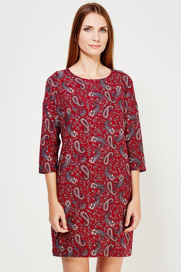 Купить Платье FINN FLARE, Китай, Бордовый, хлопок 100%