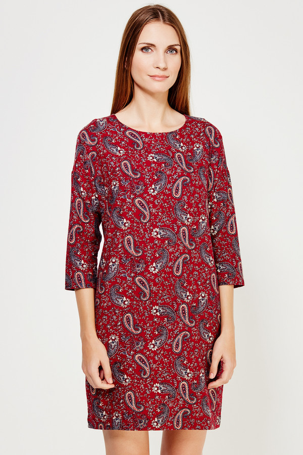 Платье FINN FLAREПлатья<br><br><br>Размер RU: 44<br>Пол: Женский<br>Возраст: Взрослый<br>Материал: хлопок 100%<br>Цвет: Бордовый