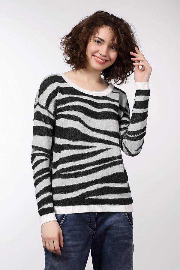 Пуловер s.OliverПуловеры<br>Стильный пуловер бренда s.Oliver прямого кроя выполнен из мягкой пряжи. Изделие дополнено: круглым вырезом и длинными рукавами. Пуловер декорирован анималистическим черно-серым вязанным узором. Ворот, манжеты и нижний кант оформлены эластичной резинкой белого цвета.<br><br>Размер RU: 40<br>Пол: Женский<br>Возраст: Взрослый<br>Материал: хлопок 60%, полиакрил 40%<br>Цвет: Разноцветный