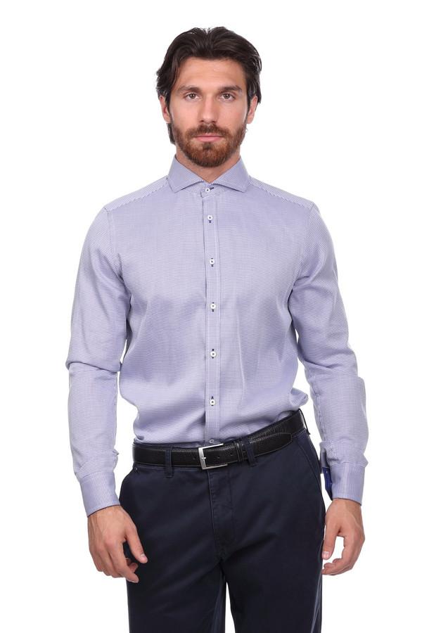 Рубашка с длинным рукавом VentiДлинный рукав<br><br><br>Размер RU: 43<br>Пол: Мужской<br>Возраст: Взрослый<br>Материал: хлопок 100%<br>Цвет: Синий