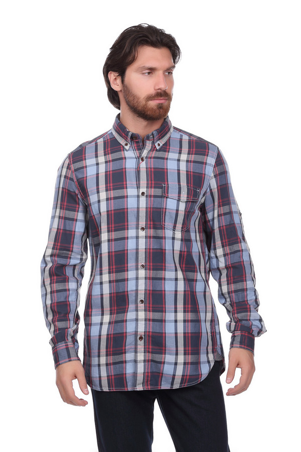 Рубашка с длинным рукавом s.OliverДлинный рукав<br><br><br>Размер RU: 48-50<br>Пол: Мужской<br>Возраст: Взрослый<br>Материал: хлопок 100%<br>Цвет: Разноцветный