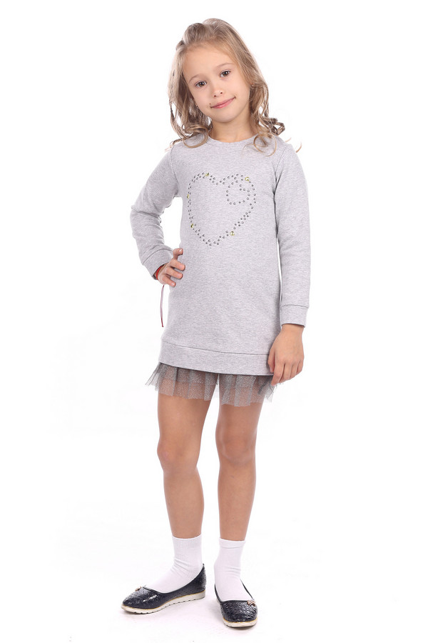 Платье SarabandaПлатья<br><br><br>Размер RU: 28;104<br>Пол: Женский<br>Возраст: Детский<br>Материал: эластан 5%, хлопок 95%<br>Цвет: Серый