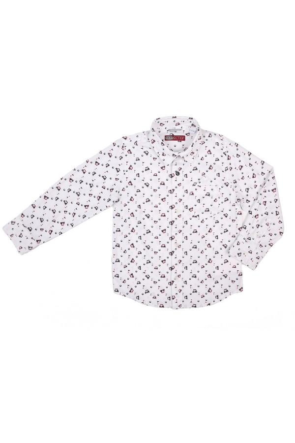 Рубашка SarabandaРубашки<br><br><br>Размер RU: 26;98<br>Пол: Мужской<br>Возраст: Детский<br>Материал: хлопок 100%<br>Цвет: Белый