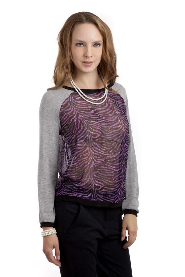 Пуловер s.OliverПуловеры<br>Оригинальный пуловер бренда s.Oliver прямого кроя. Изделие дополнено: круглым вырезом и рукавами-реглан. Ворот, манжеты и нижний кант оформлены вязанной эластичной резинкой. Пуловер декорирован вставками из прозрачной ткани с зебровым принтом.<br><br>Размер RU: 42<br>Пол: Женский<br>Возраст: Взрослый<br>Материал: эластан 5%, вискоза 95%<br>Цвет: Разноцветный