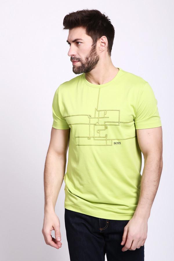 Купить Футболкa Boss Green, Перу, Жёлтый, см. на вшивном ярлыке 0%
