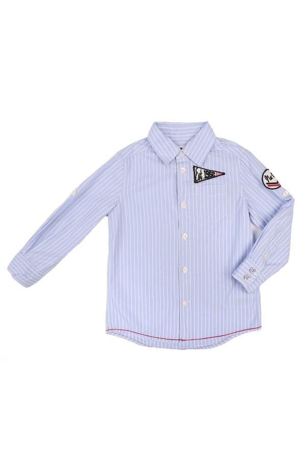 рубашка tom tailor для мальчика, голубая