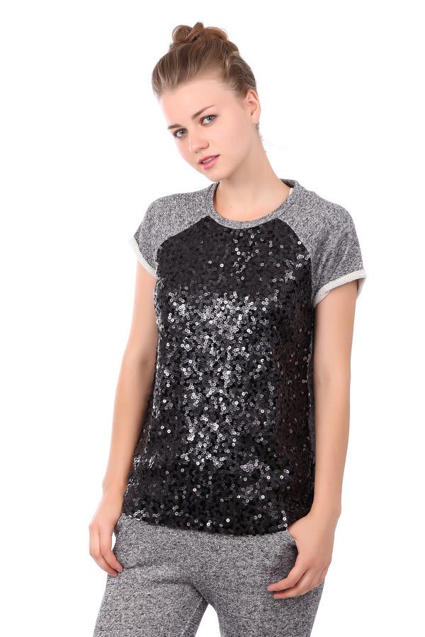 женская футболка gaudi jeans, черная
