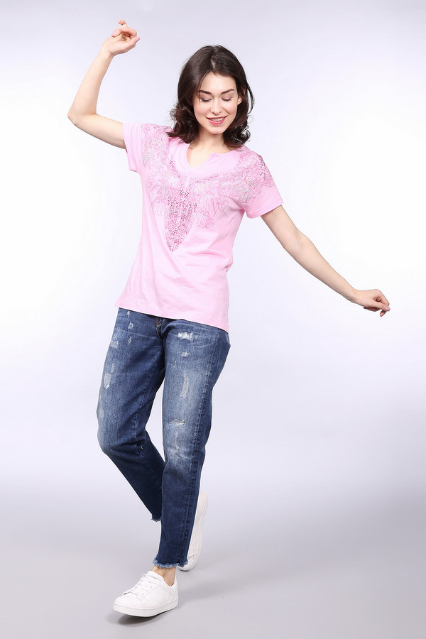 Модные джинсы Gaudi JeansМодные джинсы<br><br><br>Размер RU: 44<br>Пол: Женский<br>Возраст: Взрослый<br>Материал: хлопок 98%, эластан 2%<br>Цвет: Синий