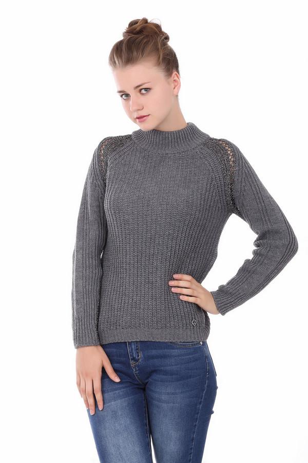 Джемпер Gaudi JeansДжемперы<br><br><br>Размер RU: 44-46<br>Пол: Женский<br>Возраст: Взрослый<br>Материал: полиакрил 100%, Состав_2 полиэстер 100%<br>Цвет: Серебристый