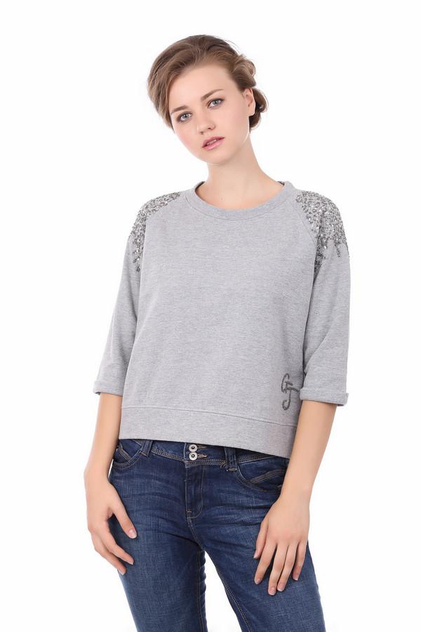 женская футболка gaudi jeans, серая