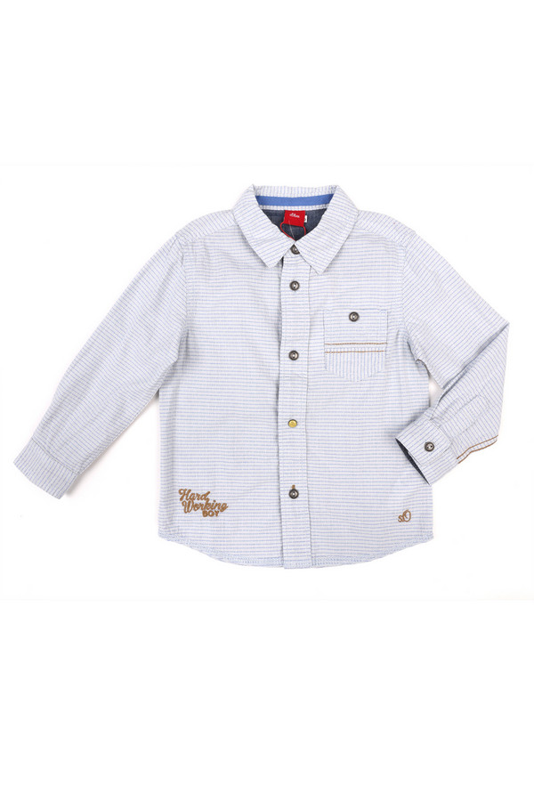 Рубашка s.OliverРубашки<br><br><br>Размер RU: 30;116-122<br>Пол: Мужской<br>Возраст: Детский<br>Материал: хлопок 100%<br>Цвет: Голубой