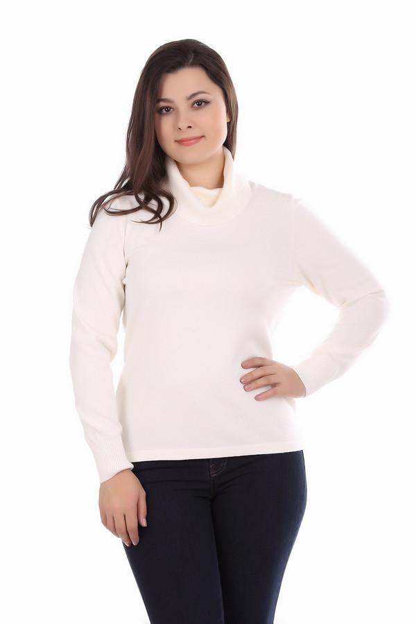 Пуловер Rabe collectionПуловеры<br><br><br>Размер RU: 52<br>Пол: Женский<br>Возраст: Взрослый<br>Материал: полиамид 15%, полиакрил 40%, модал 45%<br>Цвет: Белый