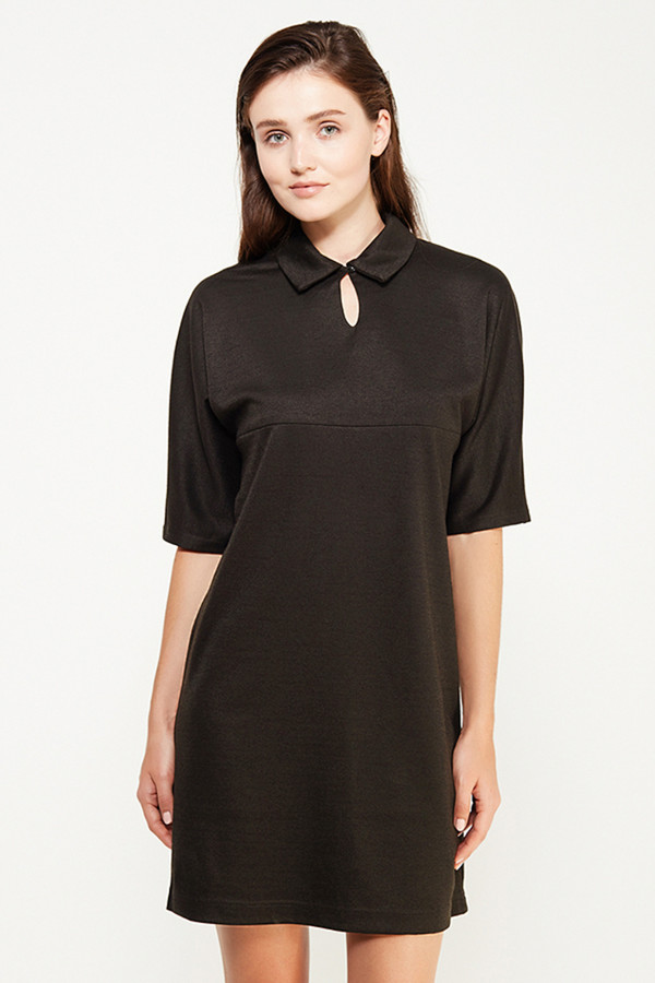 Платье FINN FLAREПлатья<br><br><br>Размер RU: 46<br>Пол: Женский<br>Возраст: Взрослый<br>Материал: вискоза 30%, полиэстер 40%, акрил 30%<br>Цвет: Чёрный
