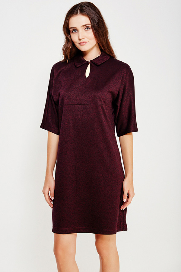 Платье FINN FLAREПлатья<br><br><br>Размер RU: 42<br>Пол: Женский<br>Возраст: Взрослый<br>Материал: вискоза 30%, полиэстер 40%, акрил 30%<br>Цвет: Бордовый