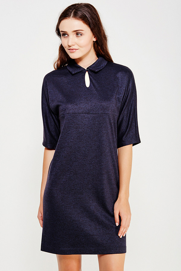 Платье FINN FLAREПлатья<br><br><br>Размер RU: 52<br>Пол: Женский<br>Возраст: Взрослый<br>Материал: вискоза 30%, полиэстер 40%, акрил 30%<br>Цвет: Синий