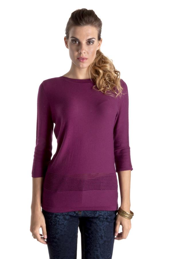 Пуловер Betty BarclayПуловеры<br>Элегантный бордовый пуловер Betty Barclay прямого кроя. Изделие дополнено: вырезом-лодочка и рукавами 3/4. Пуловер декорирован ажурным вывязанным рисунком. Модель выполнена из высококачественного материала приятного на ощупь.<br><br>Размер RU: 48<br>Пол: Женский<br>Возраст: Взрослый<br>Материал: хлопок 50%, полиакрил 50%<br>Цвет: Бордовый