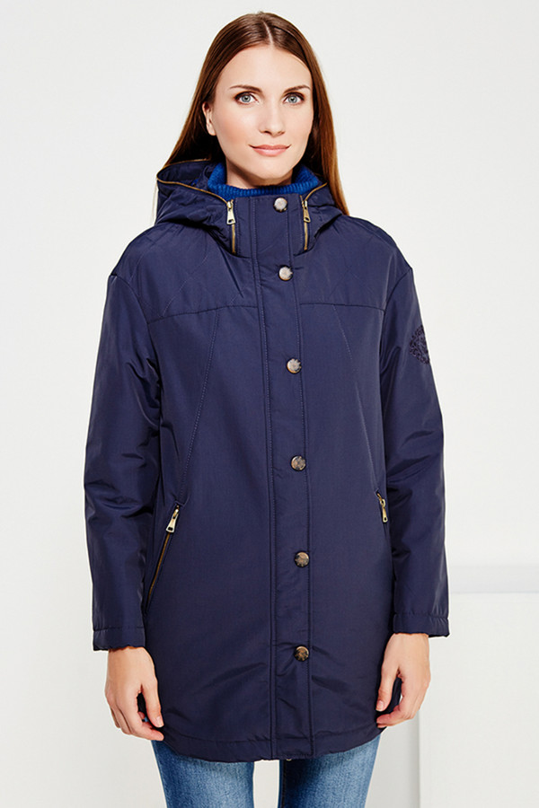 Куртка FINN FLAREКуртки<br><br><br>Размер RU: 52<br>Пол: Женский<br>Возраст: Взрослый<br>Материал: нейлон 37%, хлопок 63%, ВЕРХ 0%<br>Цвет: Синий