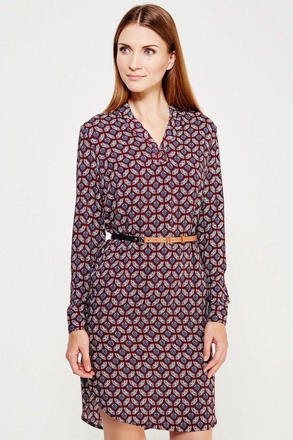 Платье FINN FLAREПлатья<br><br><br>Размер RU: 46<br>Пол: Женский<br>Возраст: Взрослый<br>Материал: вискоза 100%<br>Цвет: Разноцветный