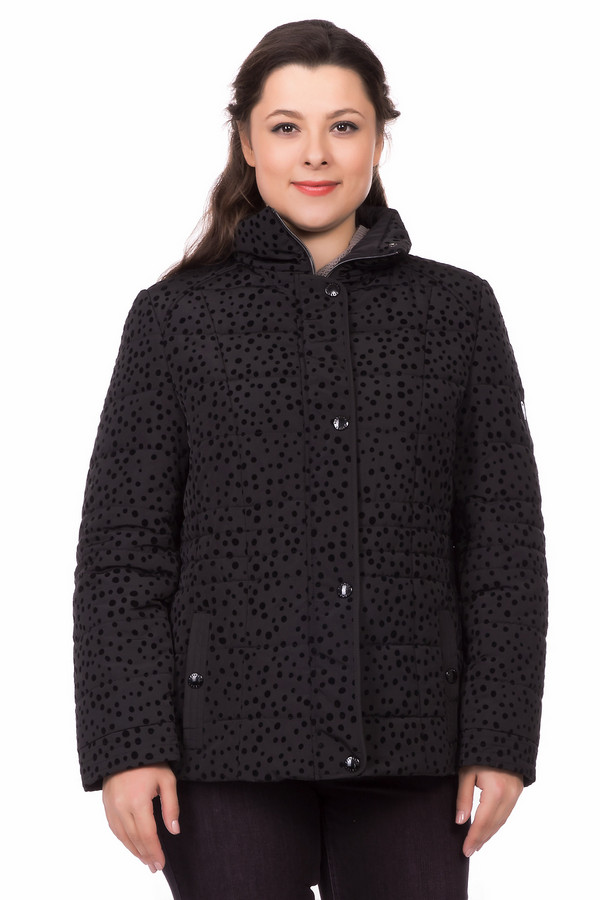 Куртка LebekКуртки<br><br><br>Размер RU: 50<br>Пол: Женский<br>Возраст: Взрослый<br>Материал: полиэстер 100%, Состав_подкладка полиэстер 100%<br>Цвет: Чёрный