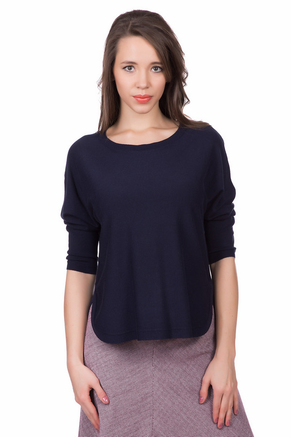 Пуловер QSПуловеры<br><br><br>Размер RU: 44-46<br>Пол: Женский<br>Возраст: Взрослый<br>Материал: полиамид 20%, вискоза 80%<br>Цвет: Синий
