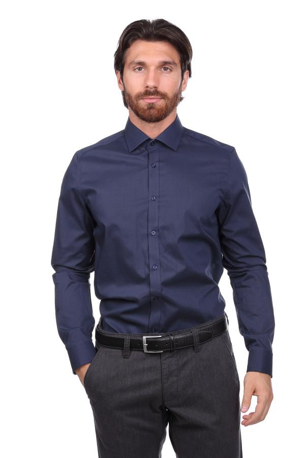 Рубашка с длинным рукавом VentiДлинный рукав<br><br><br>Размер RU: 44<br>Пол: Мужской<br>Возраст: Взрослый<br>Материал: хлопок 100%<br>Цвет: Синий