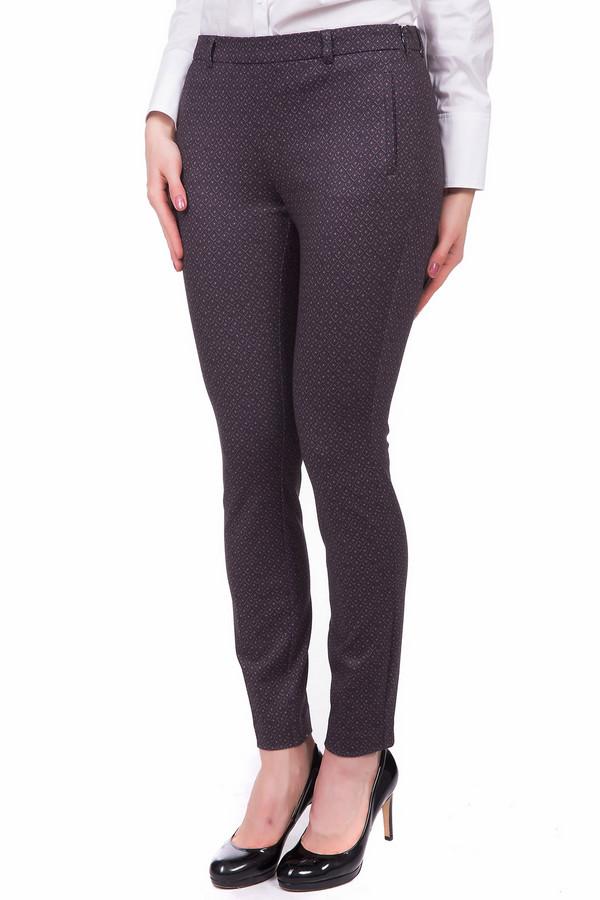 женские брюки comma, бордовые