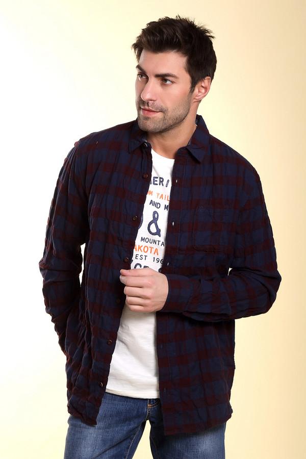 Рубашка с длинным рукавом s.OliverДлинный рукав<br><br><br>Размер RU: 50-52<br>Пол: Мужской<br>Возраст: Взрослый<br>Материал: эластан 1%, хлопок 99%<br>Цвет: Бордовый