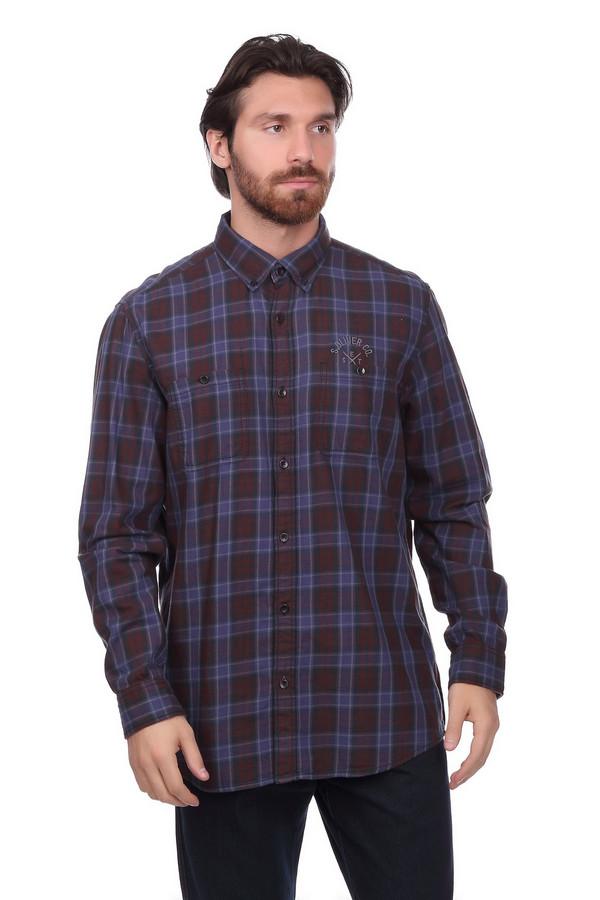 Рубашка с длинным рукавом s.OliverДлинный рукав<br><br><br>Размер RU: 48-50<br>Пол: Мужской<br>Возраст: Взрослый<br>Материал: хлопок 100%<br>Цвет: Бордовый