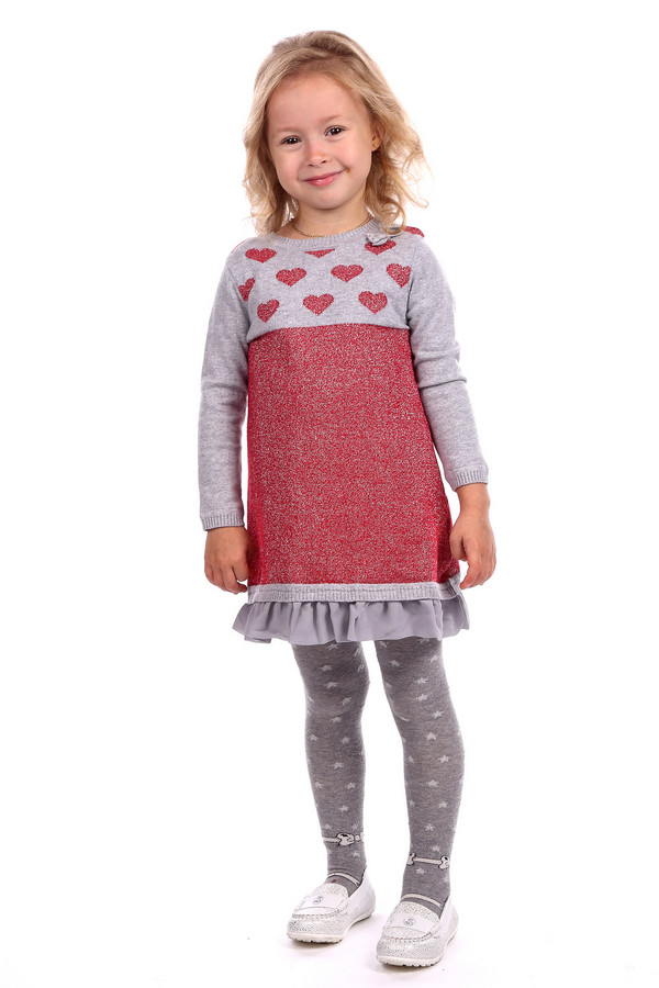 Платье SarabandaПлатья<br><br><br>Размер RU: 26;98<br>Пол: Женский<br>Возраст: Детский<br>Материал: шерсть 20%, хлопок 80%<br>Цвет: Красный