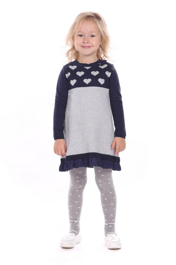 Платье SarabandaПлатья<br><br><br>Размер RU: 30;122<br>Пол: Женский<br>Возраст: Детский<br>Материал: шерсть 20%, хлопок 80%<br>Цвет: Серый