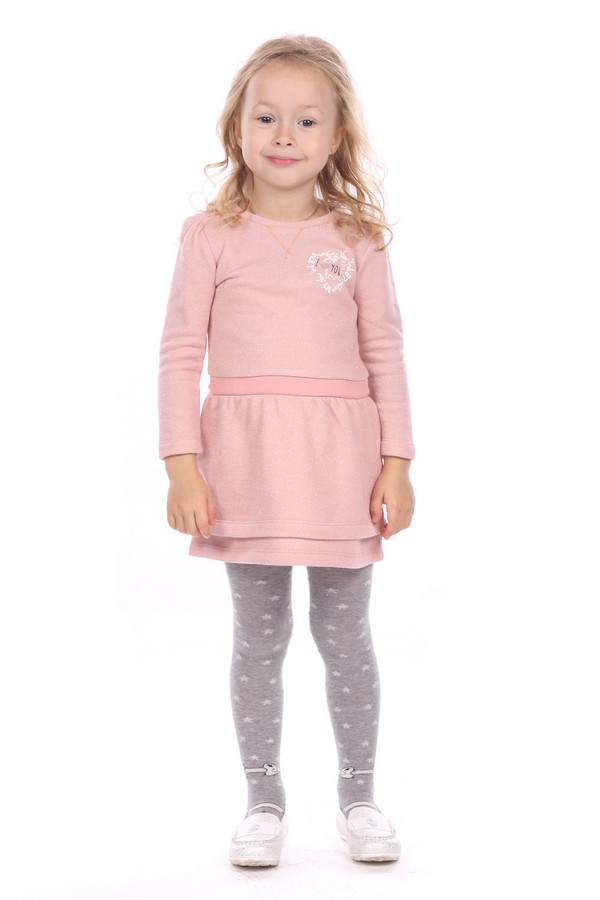 Платье s.OliverПлатья<br><br><br>Размер RU: 28;110<br>Пол: Женский<br>Возраст: Детский<br>Материал: хлопок 80%, металлик 20%<br>Цвет: Розовый