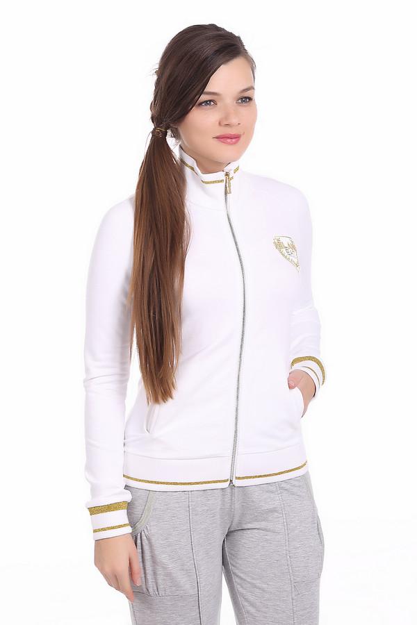 Куртка EA7Куртки<br><br><br>Размер RU: 40-42<br>Пол: Женский<br>Возраст: Взрослый<br>Материал: эластан 5%, хлопок 95%, Состав_подкладка хлопок 100%<br>Цвет: Белый