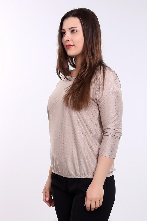 Блузa Via AppiaБлузы<br>Футболка бежевого цвета фирмы Via Appia. Ткань состоит из 5 % эластана, 80 % вискозы, 15 % полиэстера. Модель дополнена округлым воротом, длинными рукавами. Изделие свободного покроя. Низ футболки заканчивает узкая резинка, которая делает комфортную посадку по вашей фигуре. Фасон данной модели придает легкость и дополнит ваш образ.