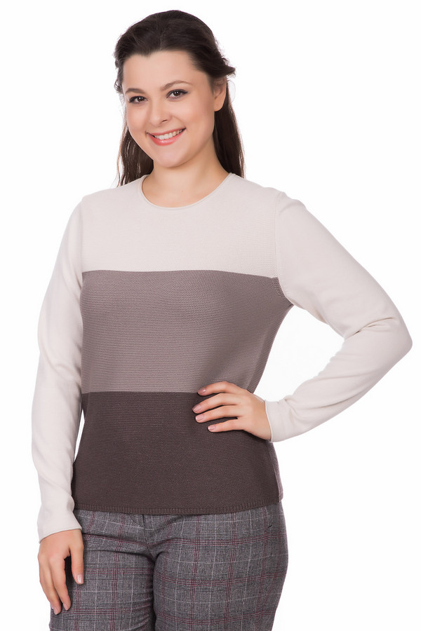 Пуловер Rabe collectionПуловеры<br><br><br>Размер RU: 48<br>Пол: Женский<br>Возраст: Взрослый<br>Материал: полиамид 15%, полиакрил 40%, модал 45%<br>Цвет: Коричневый