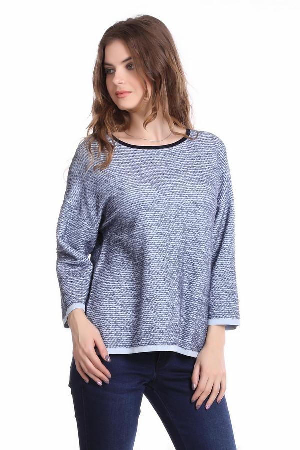 Пуловер Gerry Weber<br><br>Размер RU: 42<br>Пол: Женский<br>Возраст: Взрослый<br>Материал: полиамид 15%, вискоза 55%, хлопок 23%, шерсть 7%<br>Цвет: Синий