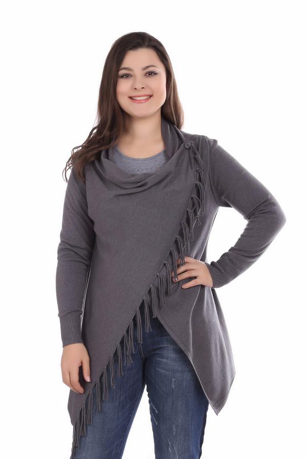 Пуловер Rabe collectionПуловеры<br><br><br>Размер RU: 44<br>Пол: Женский<br>Возраст: Взрослый<br>Материал: полиамид 15%, полиакрил 40%, модал 45%<br>Цвет: Серый