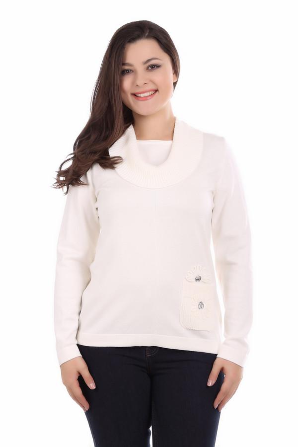 Пуловер Rabe collectionПуловеры<br><br><br>Размер RU: 46<br>Пол: Женский<br>Возраст: Взрослый<br>Материал: полиамид 15%, полиакрил 40%, модал 45%<br>Цвет: Белый