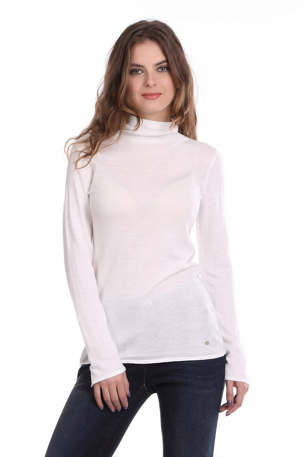 Пуловер MonariПуловеры<br><br><br>Размер RU: 44<br>Пол: Женский<br>Возраст: Взрослый<br>Материал: полиамид 40%, вискоза 40%, хлопок 20%<br>Цвет: Белый