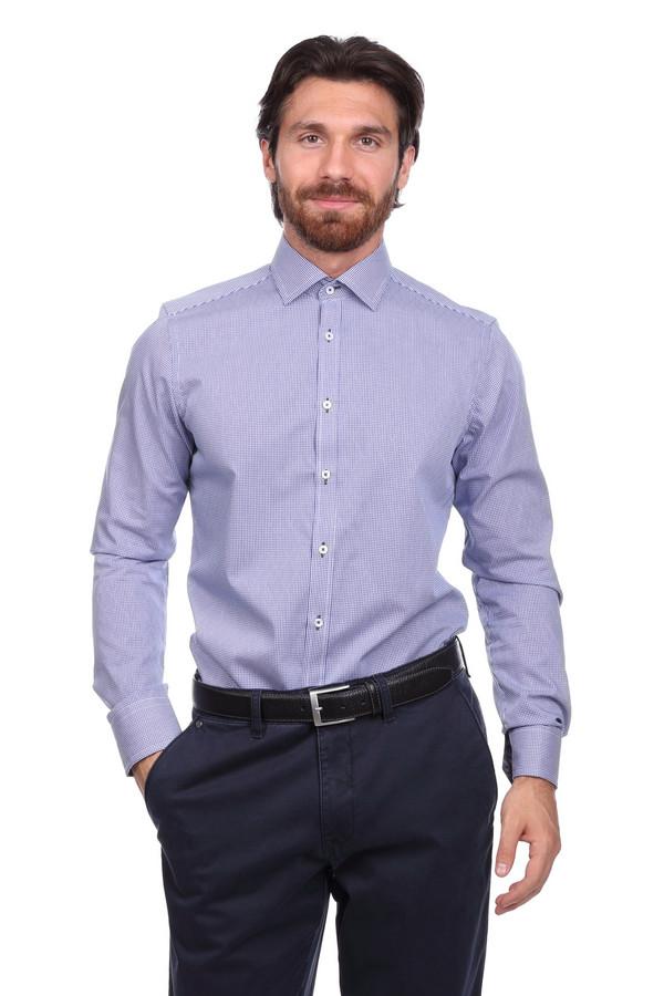 Рубашка с длинным рукавом VentiДлинный рукав<br><br><br>Размер RU: 42<br>Пол: Мужской<br>Возраст: Взрослый<br>Материал: хлопок 100%<br>Цвет: Синий