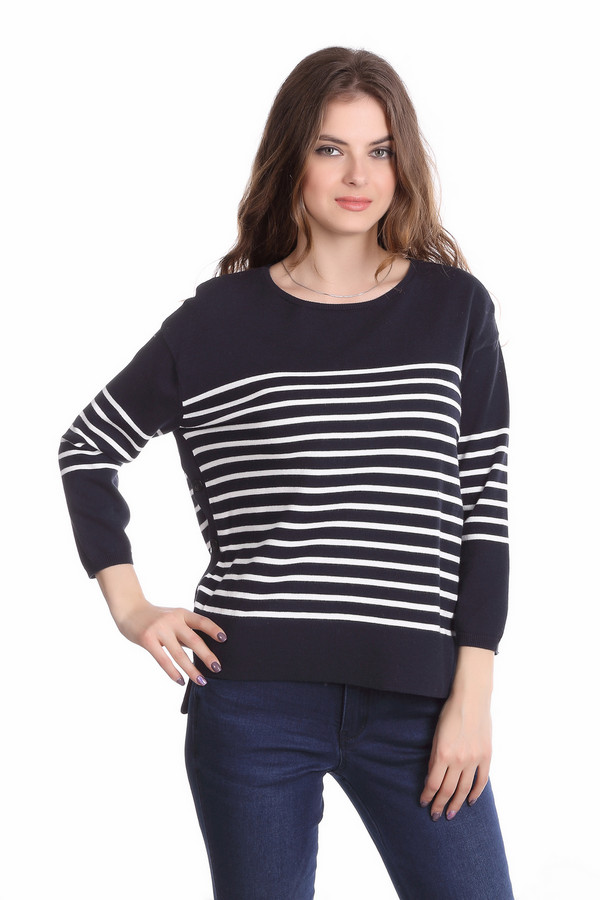 Пуловер OuiПуловеры<br><br><br>Размер RU: 40<br>Пол: Женский<br>Возраст: Взрослый<br>Материал: хлопок 100%<br>Цвет: Белый
