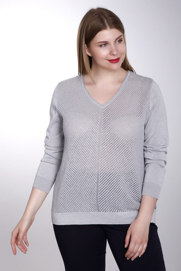 Пуловер Via AppiaПуловеры<br><br><br>Размер RU: 50<br>Пол: Женский<br>Возраст: Взрослый<br>Материал: полиэстер 8%, вискоза 55%, хлопок 37%<br>Цвет: Серый