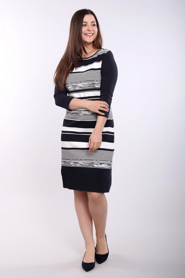 Платье Betty BarclayПлатья<br><br><br>Размер RU: 52<br>Пол: Женский<br>Возраст: Взрослый<br>Материал: эластан 3%, хлопок 83%, полиэстер 14%<br>Цвет: Разноцветный