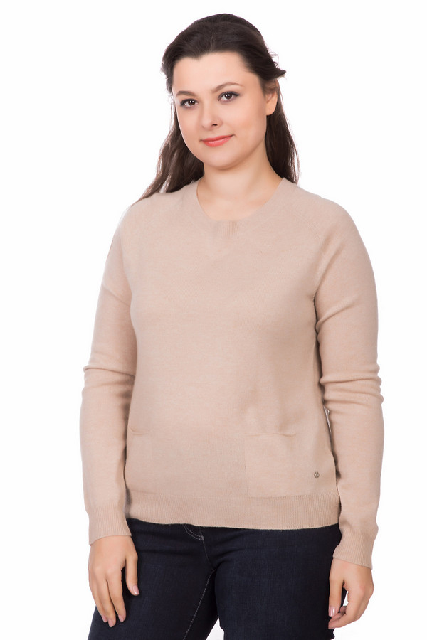 Пуловер Gerry WeberПуловеры<br><br><br>Размер RU: 50<br>Пол: Женский<br>Возраст: Взрослый<br>Материал: кашемир 10%, шерсть 90%<br>Цвет: Бежевый