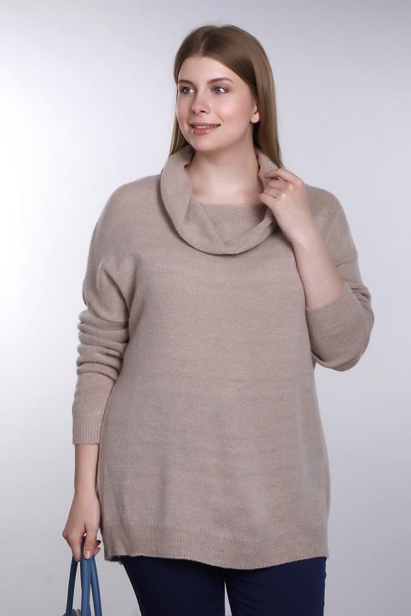 Пуловер Via AppiaПуловеры<br>Пуловер фирмы Via Appia бежевого цвета. Модель дополнена воротником - хомут, длинными рукавами. Пуловер свободного кроя. Низ пуловера и низ рукав заканчивает широкая манжета. Изделие из плотной ткани, поможет быть защищённым в холодное время года. Пуловер придает легкость в движении, создаст женственный образ. Такая модель прекрасно гармонирует с брюками.