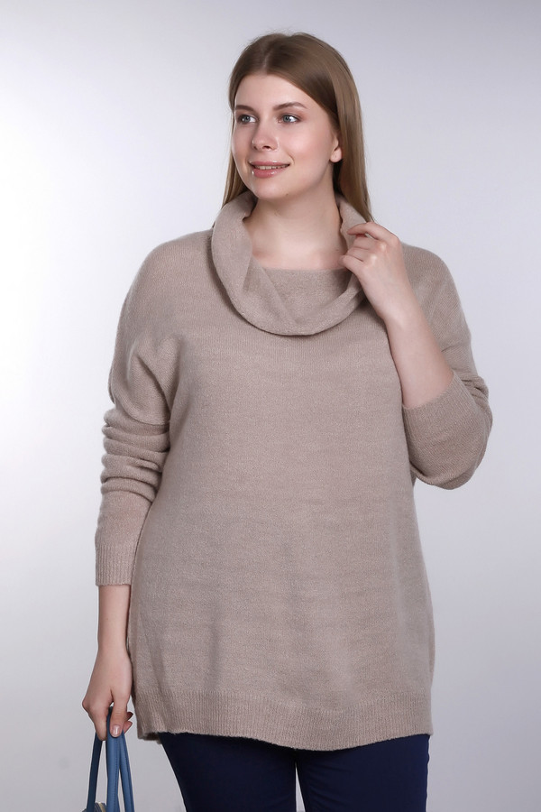 Пуловер Via AppiaПуловеры<br><br><br>Размер RU: 52<br>Пол: Женский<br>Возраст: Взрослый<br>Материал: эластан 4%, полиамид 30%, шерсть 8%, полиакрил 58%<br>Цвет: Бежевый