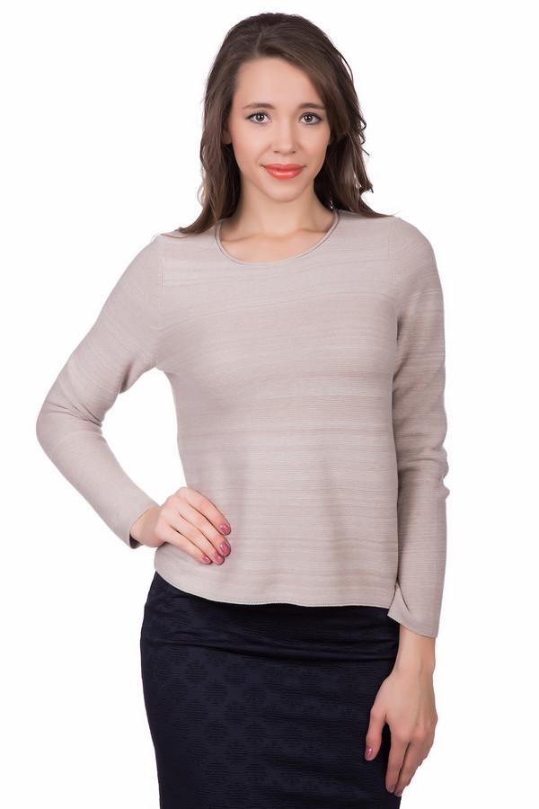 Пуловер OuiПуловеры<br><br><br>Размер RU: 40<br>Пол: Женский<br>Возраст: Взрослый<br>Материал: хлопок 100%<br>Цвет: Бежевый