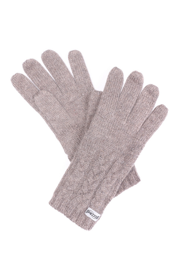 Перчатки PezzoПерчатки<br><br><br>Размер RU: один размер<br>Пол: Женский<br>Возраст: Взрослый<br>Материал: вискоза 35%, нейлон 20%, шерсть 29%, кашемир 8%, ангора 8%<br>Цвет: Серый