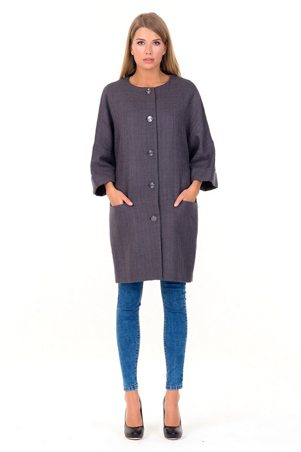 Пальто XARIZMASПальто<br><br><br>Размер RU: 50<br>Пол: Женский<br>Возраст: Взрослый<br>Материал: полиэстер 26%, вискоза 10%, хлопок 64%<br>Цвет: Серый