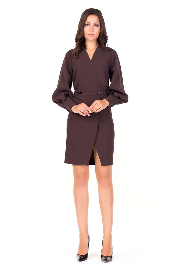 Платье XARIZMASПлатья<br><br><br>Размер RU: 48<br>Пол: Женский<br>Возраст: Взрослый<br>Материал: полиэстер 80%, вискоза 20%<br>Цвет: Коричневый